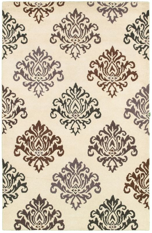 Rizzy Home PR8235 Pandora Hand-Tufted New Zealand Wool Rug White 5 x 8