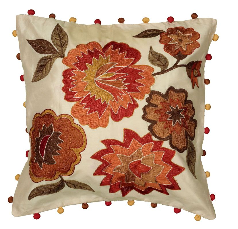 "Rizzy Home A21158 20"" x 20"" Pillow with Hidden Zipper and Polyester"