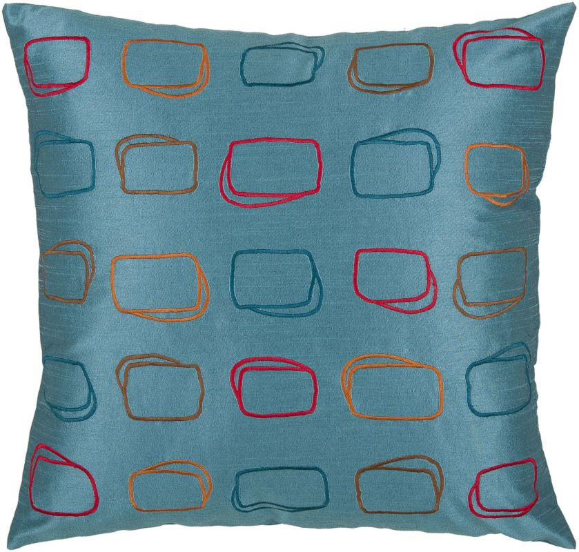 "Rizzy Home T03569 18"" x 18"" Pillow with Hidden Zipper and Polyester"