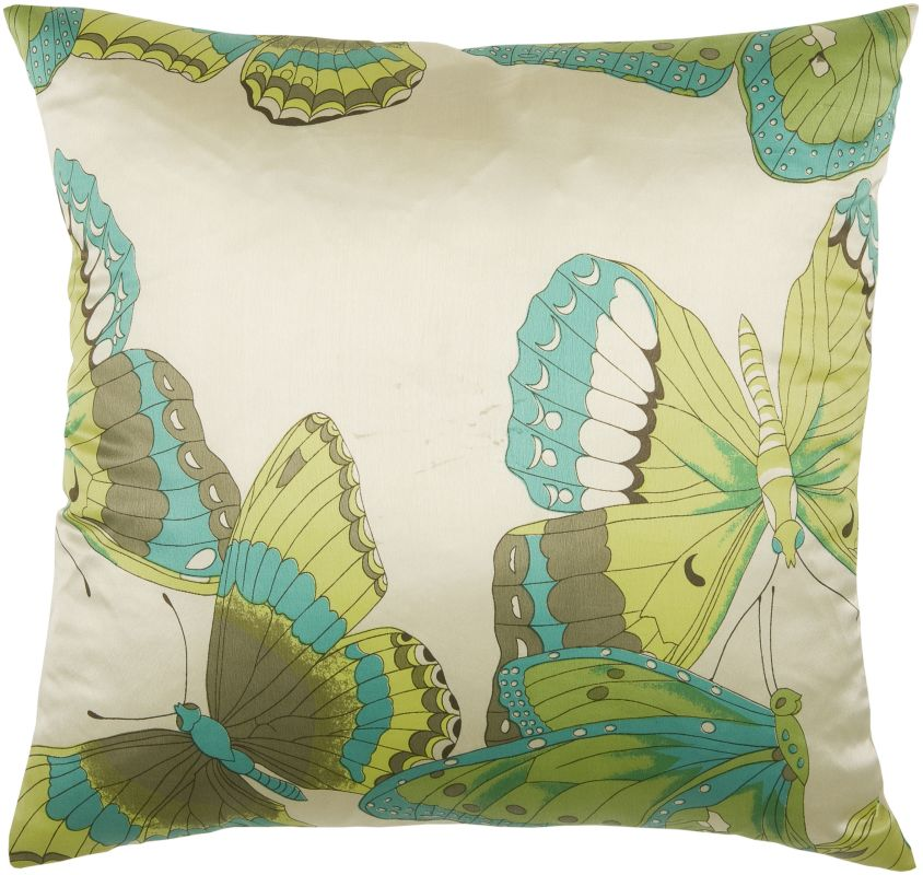"Rizzy Home T03787 18"" x 18"" Pillow with Hidden Zipper and Polyester"