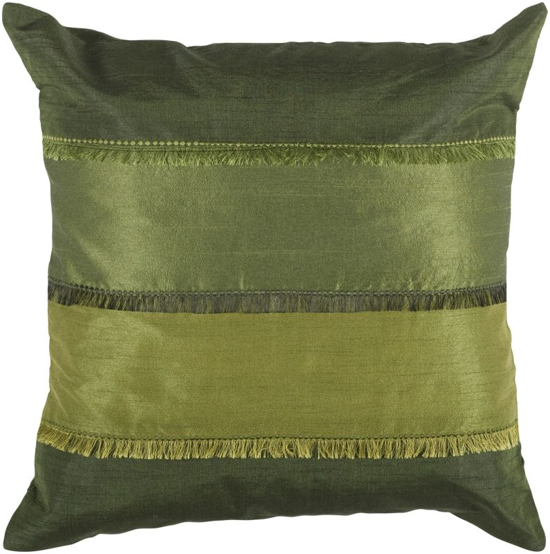 "Rizzy Home T03993 18"" x 18"" Pillow with Hidden Zipper and Polyester"
