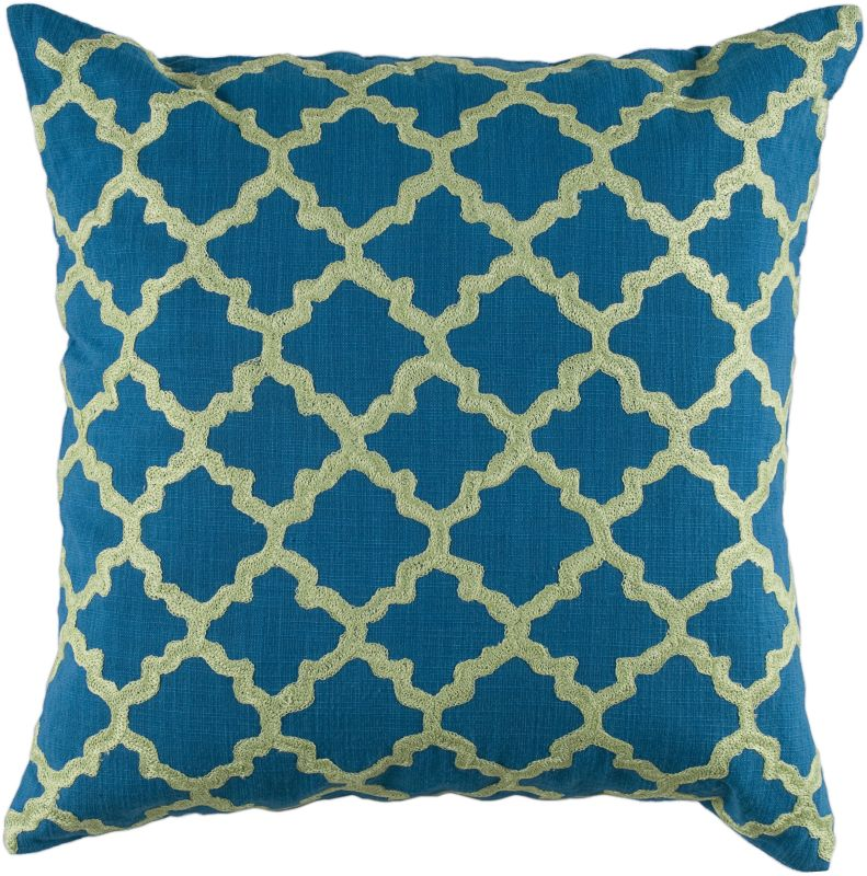 "Rizzy Home T04066 18"" x 18"" Pillow with Hidden Zipper and Polyester"