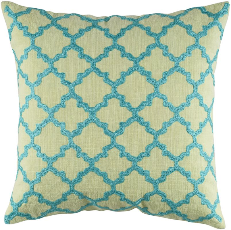 "Rizzy Home T04067 18"" x 18"" Pillow with Hidden Zipper and Polyester"