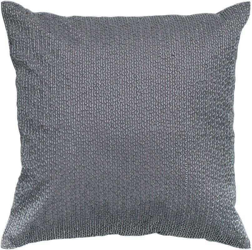 "Rizzy Home T04158 18"" x 18"" Pillow with Hidden Zipper and Polyester"