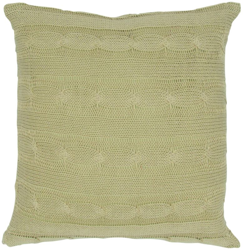 "Rizzy Home T04970 18"" x 18"" Pillow with Wooden Buttons and Polyester"