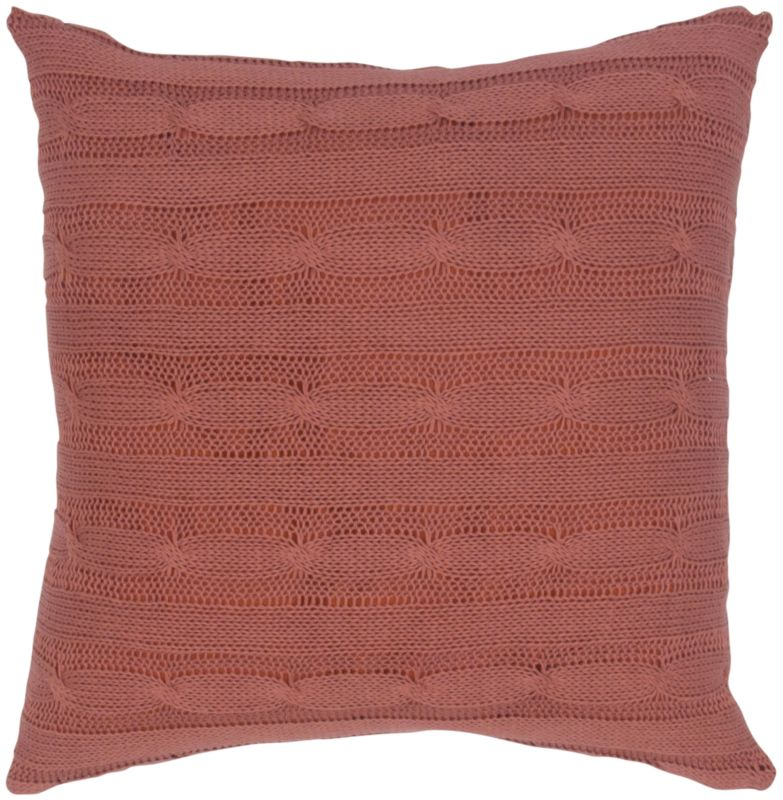 "Rizzy Home T04979 18"" x 18"" Pillow with Wooden Buttons and Polyester"