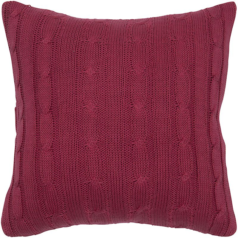 "Rizzy Home T04980 18"" x 18"" Pillow with Wooden Buttons and Polyester"