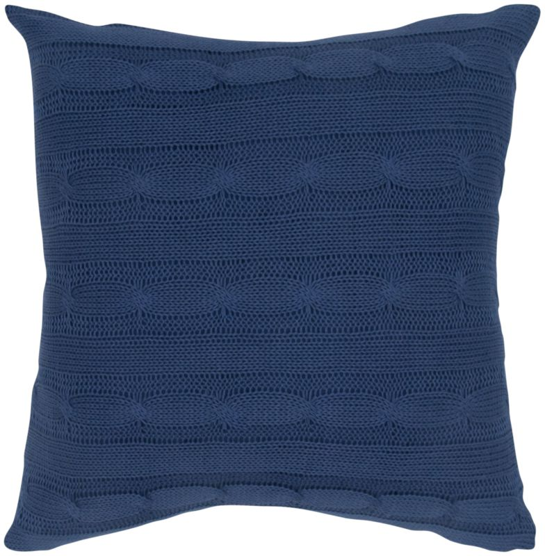 "Rizzy Home T05009 18"" x 18"" Pillow with Wooden Buttons and Polyester"