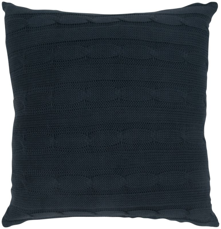 "Rizzy Home T05026 18"" x 18"" Pillow with Wooden Buttons and Polyester"