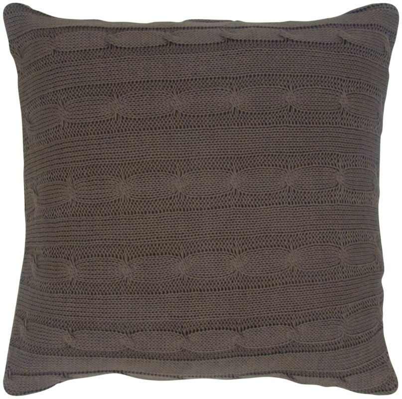 "Rizzy Home T05067 18"" x 18"" Pillow with Wooden Buttons and Polyester"