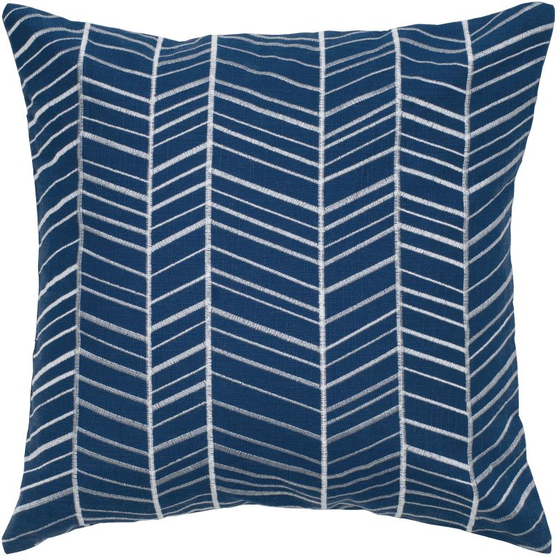 """Rizzy Home T05238 18"""" x 18"""" Pillow with Hidden Zipper and Polyester"""