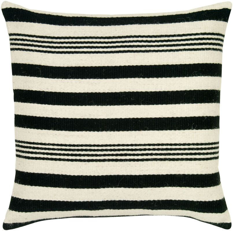 "Rizzy Home T05454 24"" x 24"" Pillow with Hidden Zipper and Polyester"