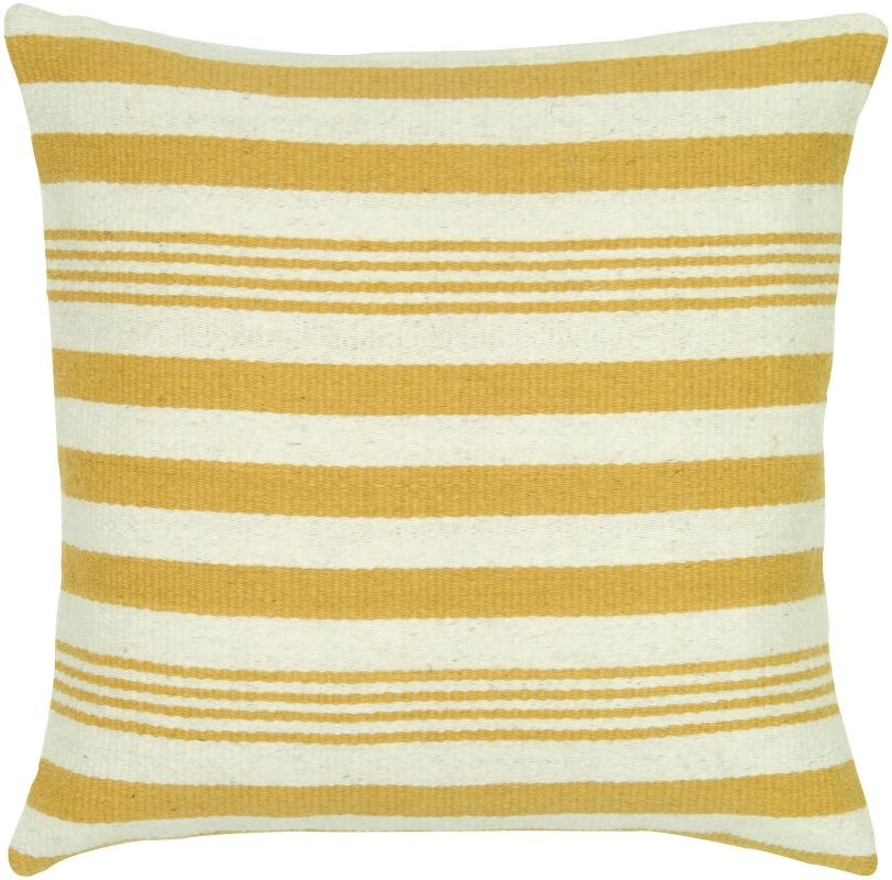 "Rizzy Home T05455 24"" x 24"" Pillow with Hidden Zipper and Polyester"