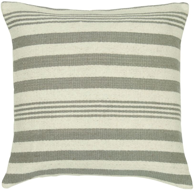 "Rizzy Home T05456 24"" x 24"" Pillow with Hidden Zipper and Polyester"