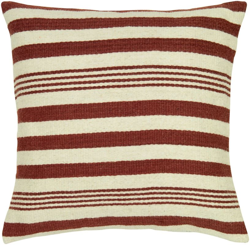 "Rizzy Home T05458 24"" x 24"" Pillow with Hidden Zipper and Polyester"