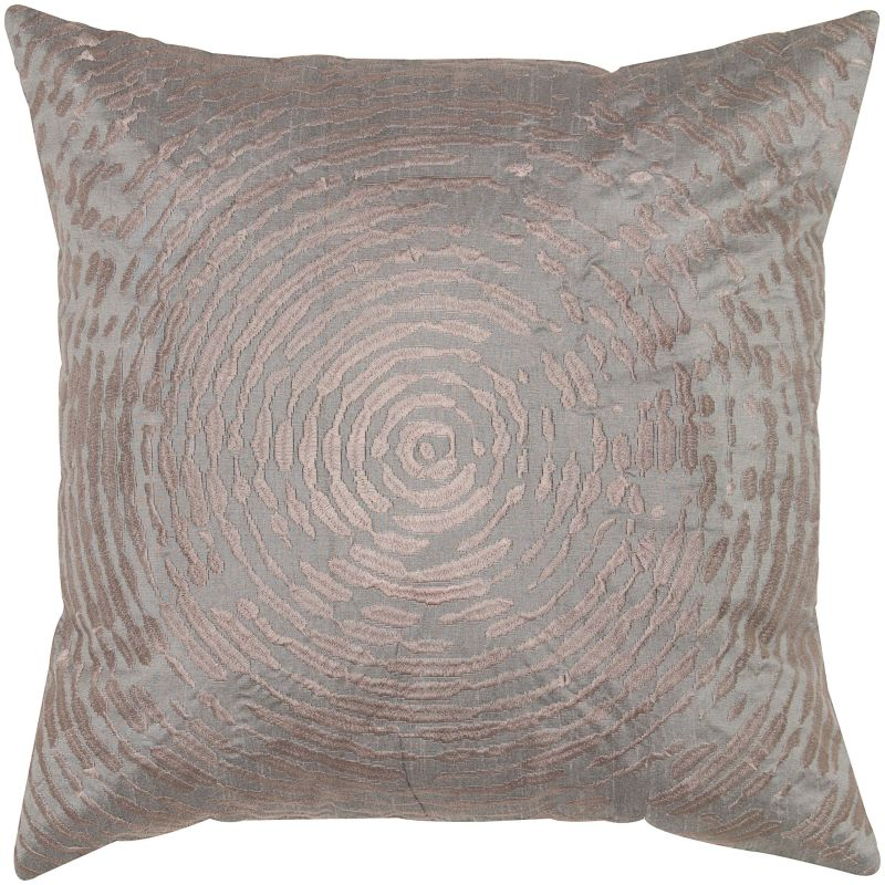 "Rizzy Home T05469 18"" x 18"" Pillow with Hidden Zipper and Polyester"