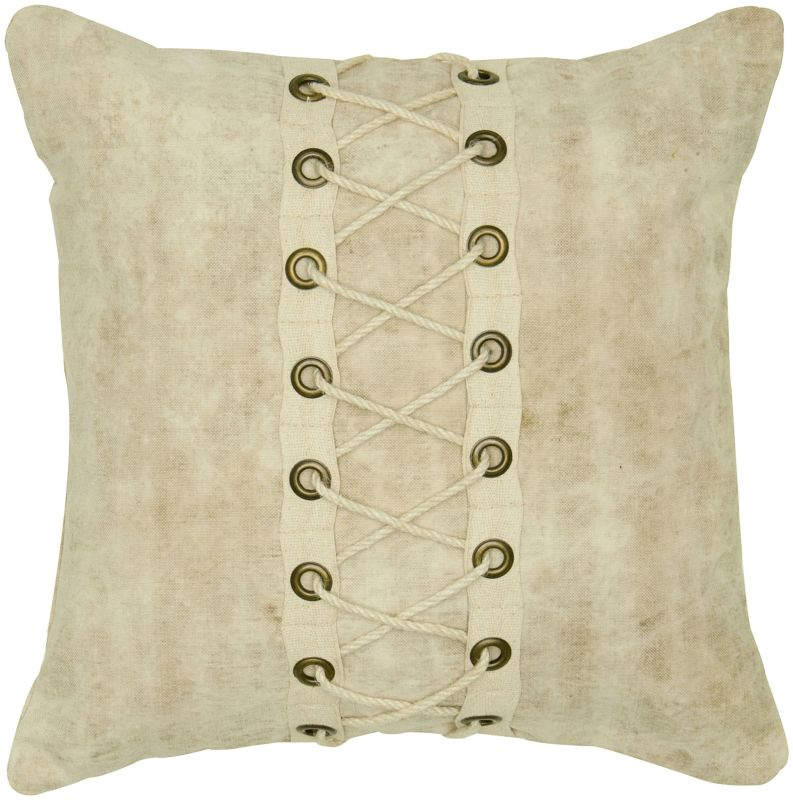"""Rizzy Home T05602 18"""" x 18"""" Pillow with Hidden Zipper and Polyester Sale $54.00 ITEM: bci2622736 ID#:PILT05602NT001818 UPC: 844353594126 :"""