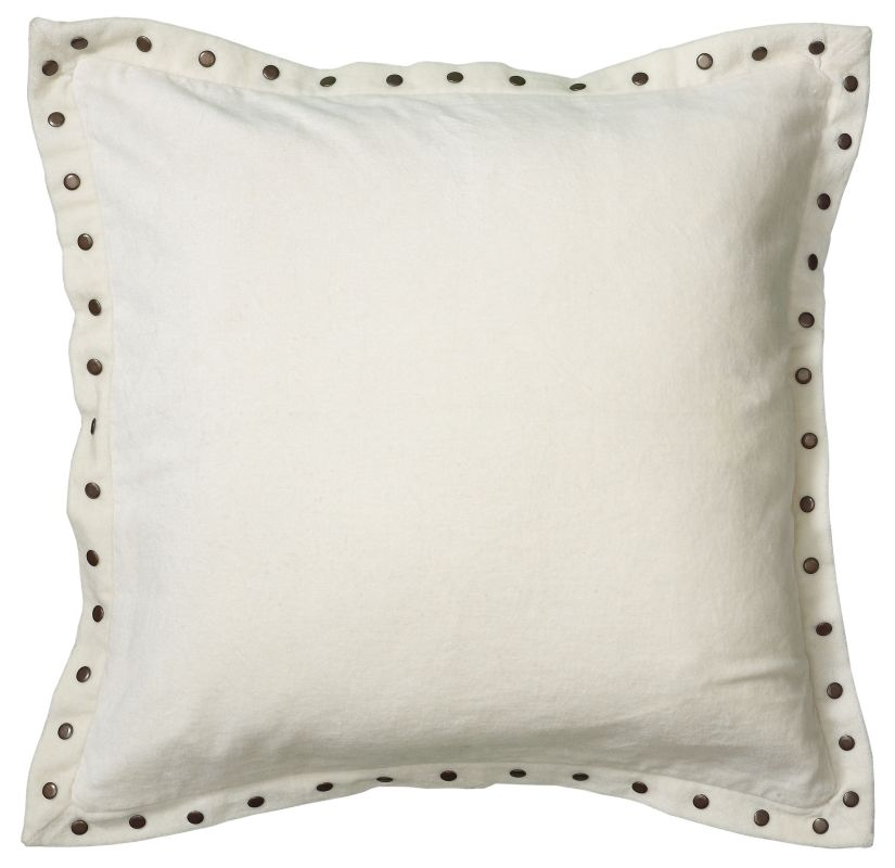 "Rizzy Home T05908 18"" x 18"" Pillow with Hidden Zipper and Polyester"