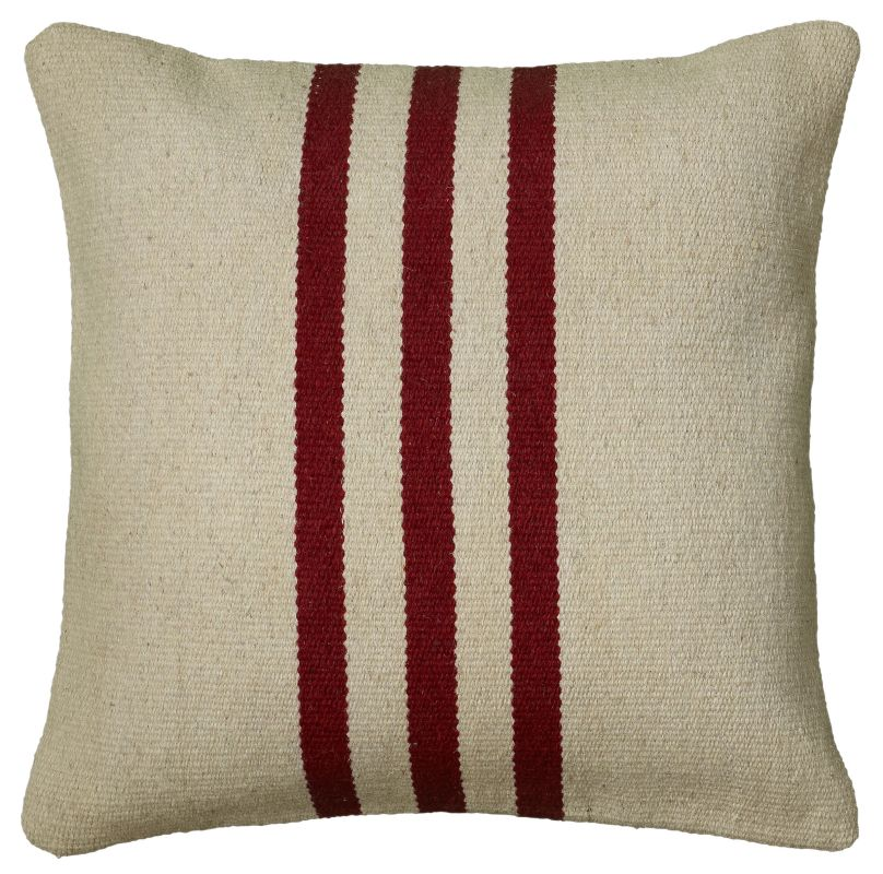 "Rizzy Home T05989 18"" x 18"" Pillow with Hidden Zipper and Polyester"
