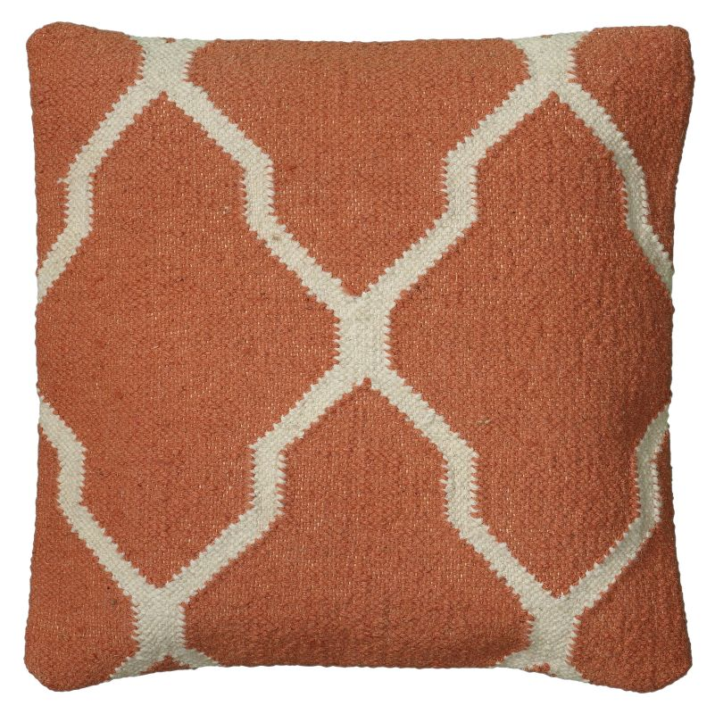 "Rizzy Home T06050 18"" x 18"" Pillow with Hidden Zipper and Polyester"