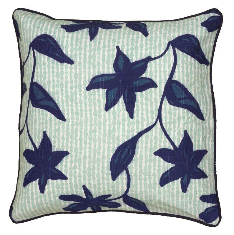 "Rizzy Home T06175 Laura Fair 18"" x 18"" Pillow with Hidden Zipper and"