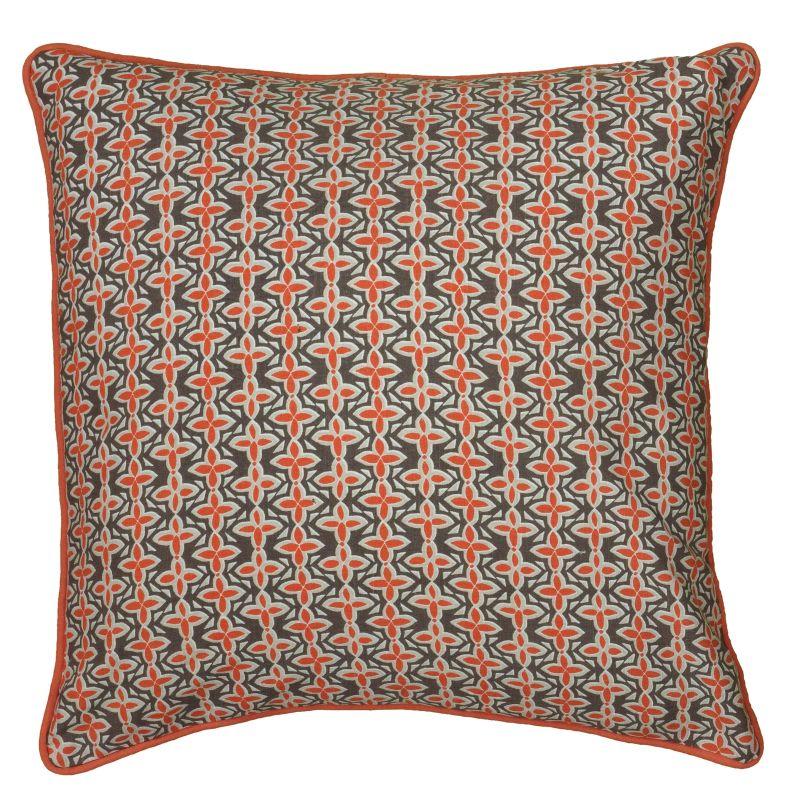 "Rizzy Home T06176 Laura Fair 18"" x 18"" Pillow with Hidden Zipper and"