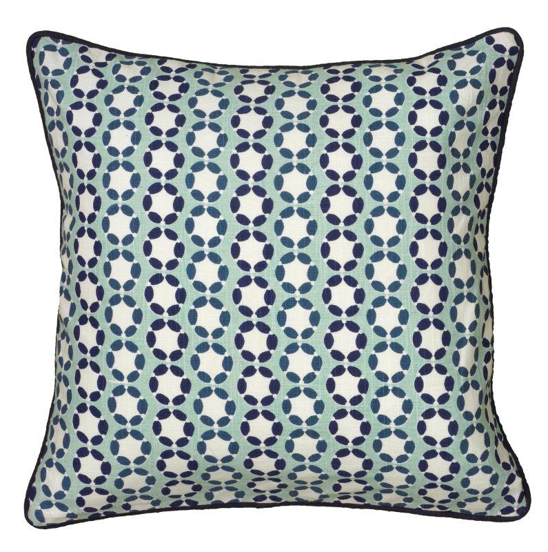 "Rizzy Home T06179 Laura Fair 18"" x 18"" Pillow with Hidden Zipper and"