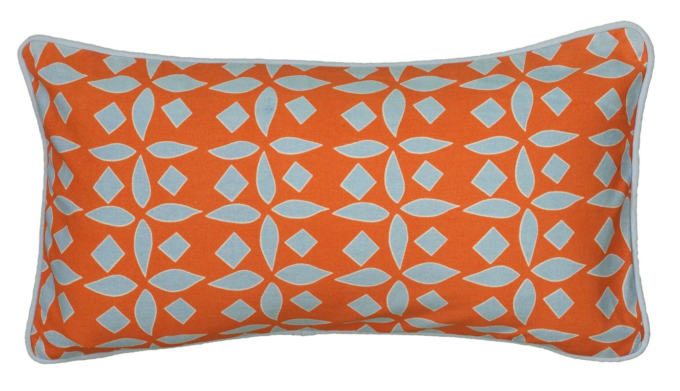 "Rizzy Home T06218 Laura Fair 11"" x 21"" Pillow with Hidden Zipper and"