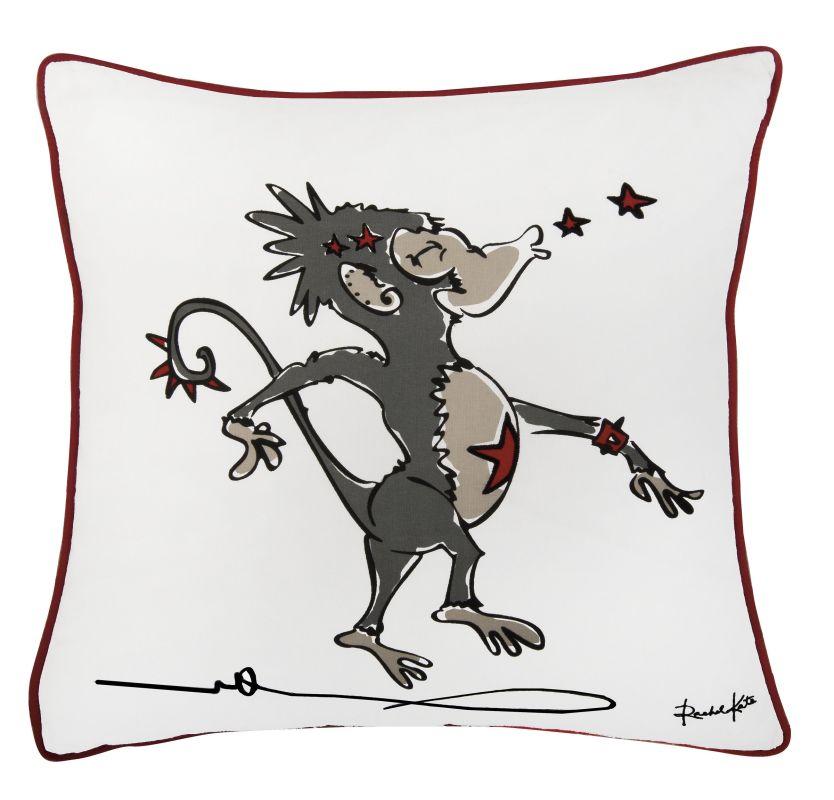 """Rizzy Home T06663 Rachel Kate 18"""" x 18"""" Pillow with Hidden Zipper and"""