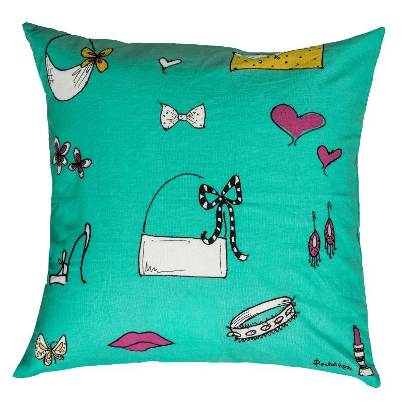 """Rizzy Home T06729 Rachel Kate 18"""" x 18"""" Pillow with Hidden Zipper and"""