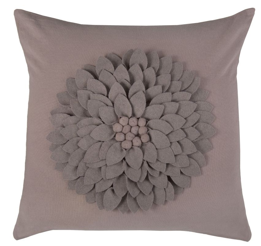"Rizzy Home T06810 18"" x 18"" Pillow with Hidden Zipper and Polyester"