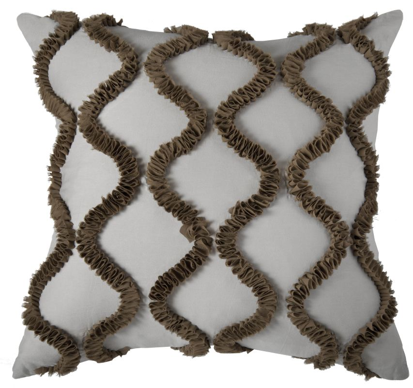 "Rizzy Home T06972 20"" x 20"" Pillow with Hidden Zipper and Polyester"