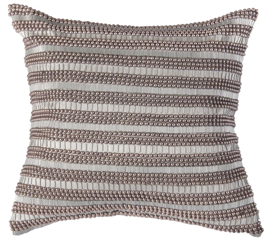 "Rizzy Home T07012 20"" x 20"" Pillow with Hidden Zipper and Polyester"