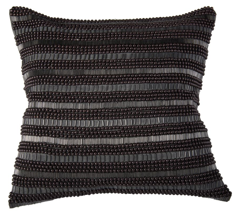 "Rizzy Home T07013 20"" x 20"" Pillow with Hidden Zipper and Polyester"