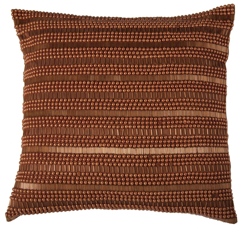 "Rizzy Home T07014 20"" x 20"" Pillow with Hidden Zipper and Polyester"