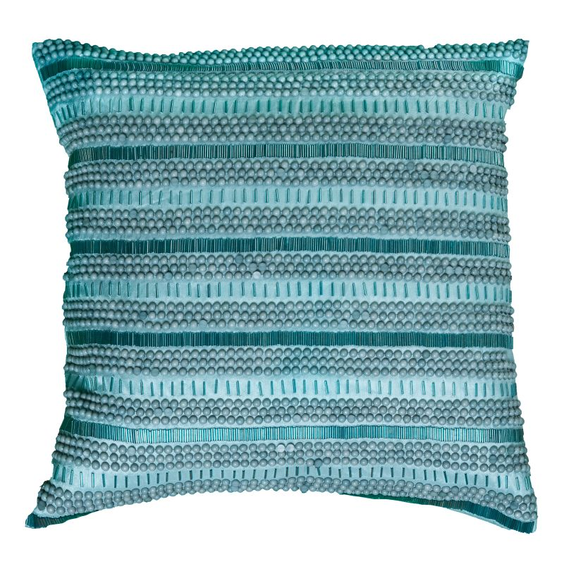 "Rizzy Home T07897 20"" x 20"" Pillow with Hidden Zipper and Polyester"