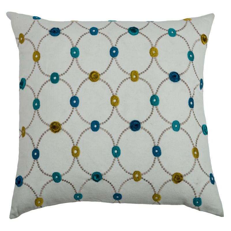 """Rizzy Home T07901 20"""" x 20"""" Pillow with Hidden Zipper and Polyester"""