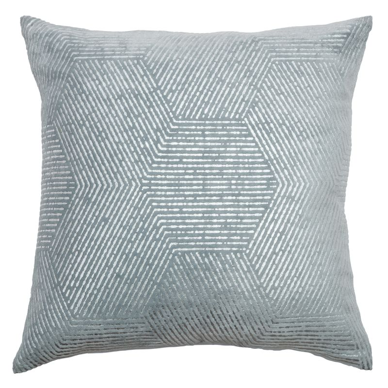 "Rizzy Home T07985 20"" x 20"" Pillow with Hidden Zipper and Polyester"