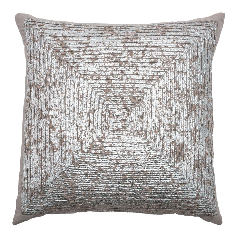"""Rizzy Home T07986 20"""" x 20"""" Pillow with Hidden Zipper and Polyester Sale $54.00 ITEM: bci2623023 ID#:PILT07986SVGY2020 UPC: 844353621242 :"""