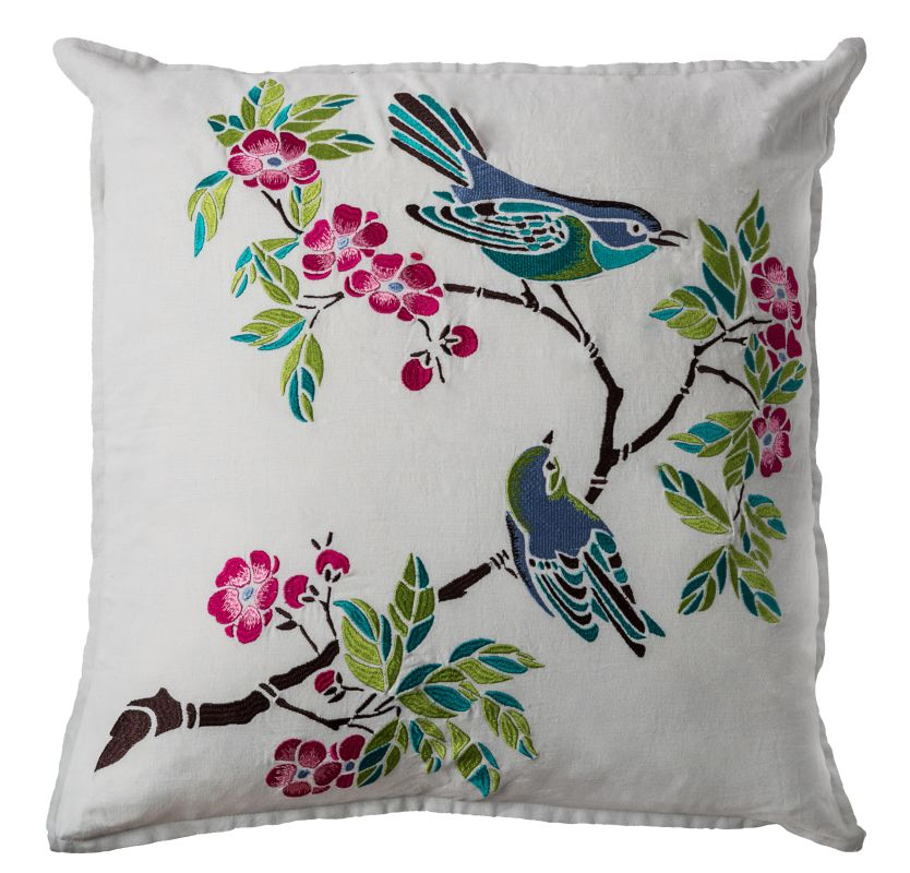 """Rizzy Home T08688 22"""" x 22"""" Pillow with Hidden Zipper and Polyester"""