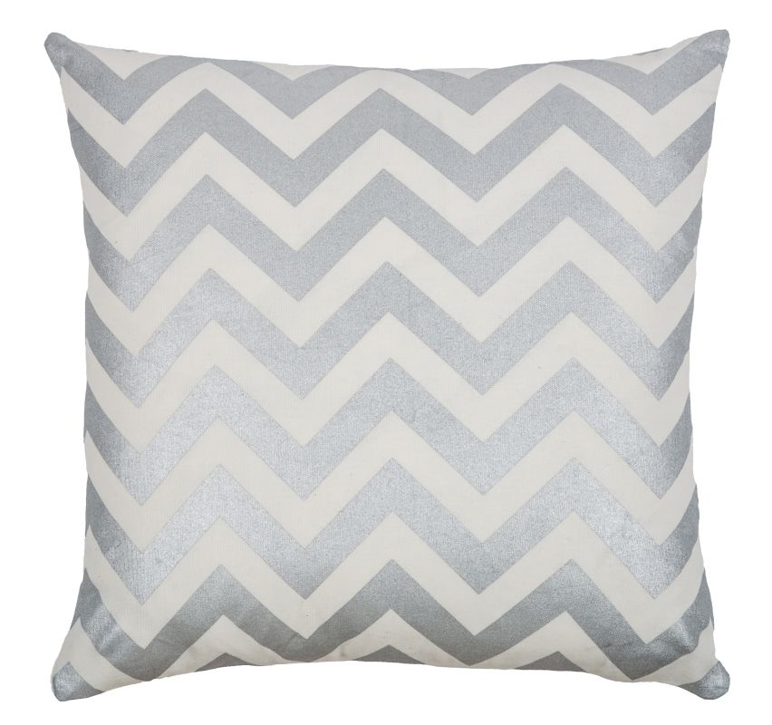 Rizzy Home T08777 18&quote x 18&quote Pillow with Hidden Zipper and Polyester