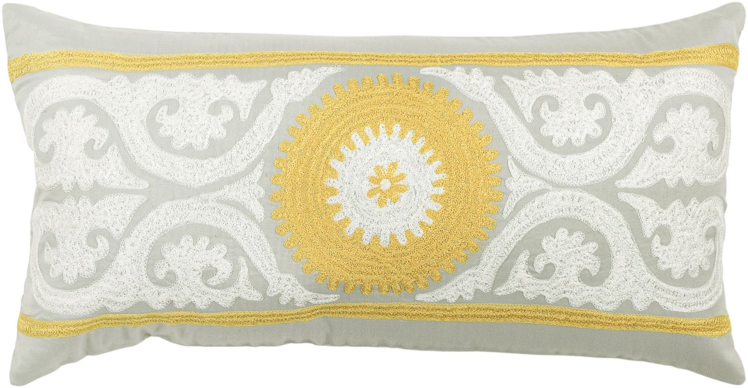 """Rizzy Home T3425B 11"""" x 21"""" Pillow with Hidden Zipper and Polyester"""