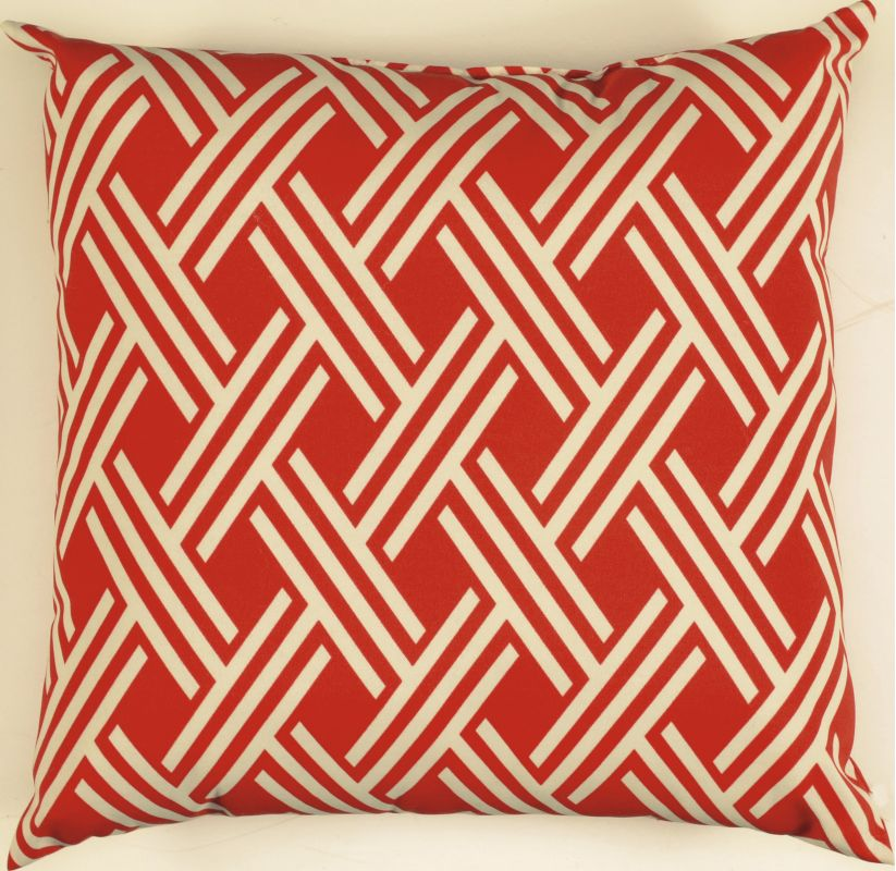 "Rizzy Home TFV007 22"" x 22"" Decorative Outdoor Pillow and Polyester"