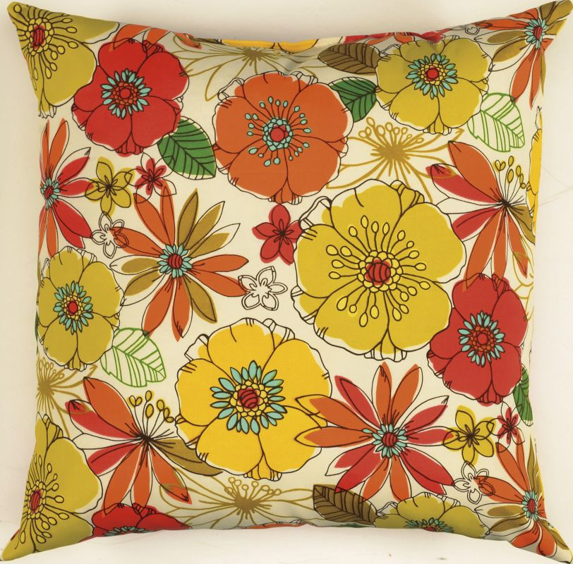"Rizzy Home TFV012 22"" x 22"" Decorative Outdoor Pillow and Polyester"