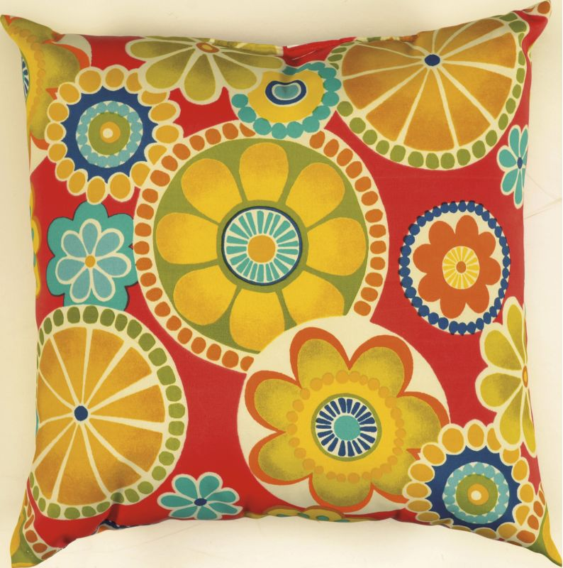 "Rizzy Home TFV015 22"" x 22"" Decorative Outdoor Pillow and Polyester"