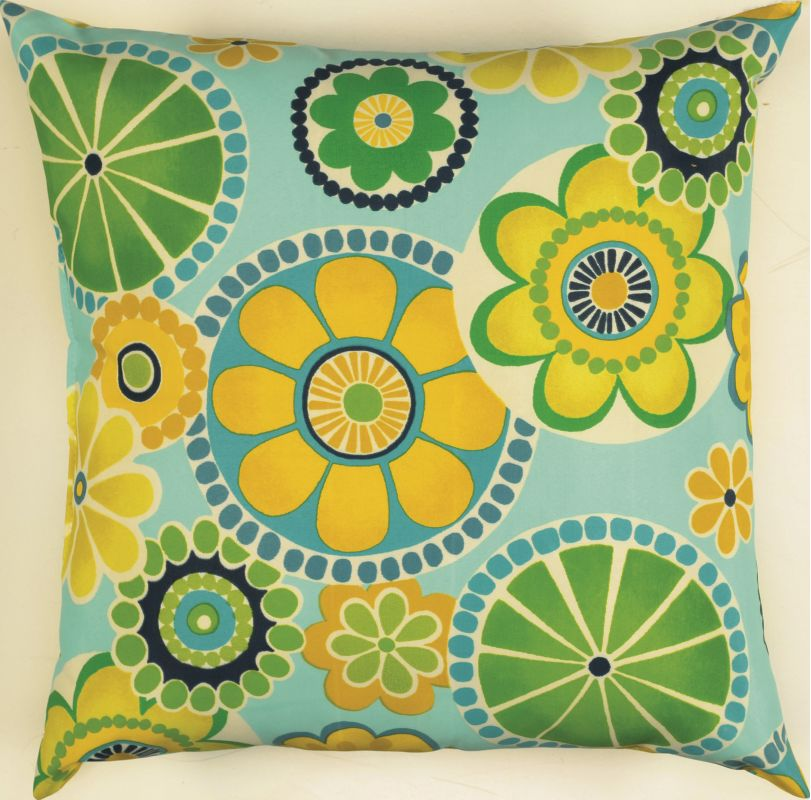 "Rizzy Home TFV017 22"" x 22"" Decorative Outdoor Pillow and Polyester"