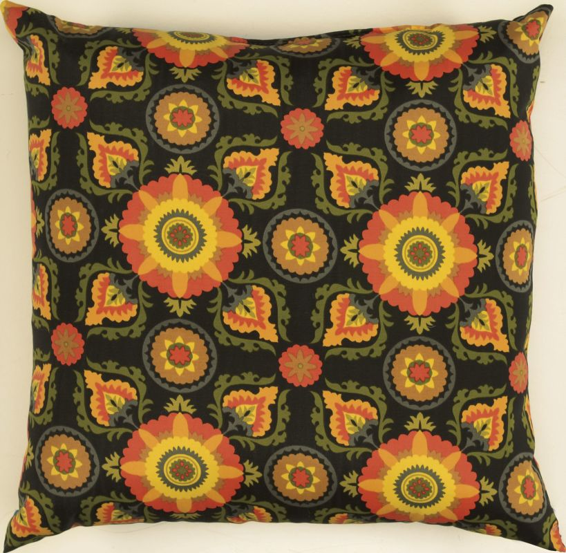 "Rizzy Home TFV024 22"" x 22"" Decorative Outdoor Pillow and Polyester"