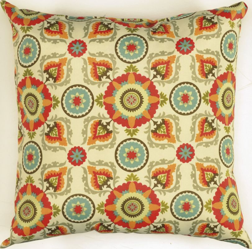 "Rizzy Home TFV025 22"" x 22"" Decorative Outdoor Pillow and Polyester"