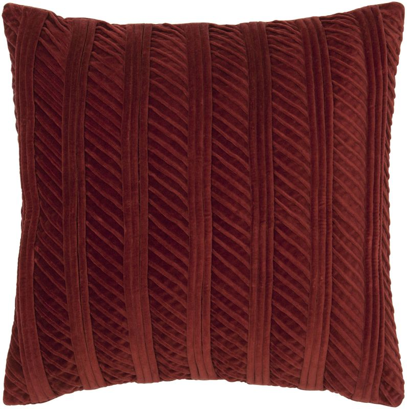 "Rizzy Home TR4023 20"" x 20"" Pillow with Hidden Zipper and Polyester"