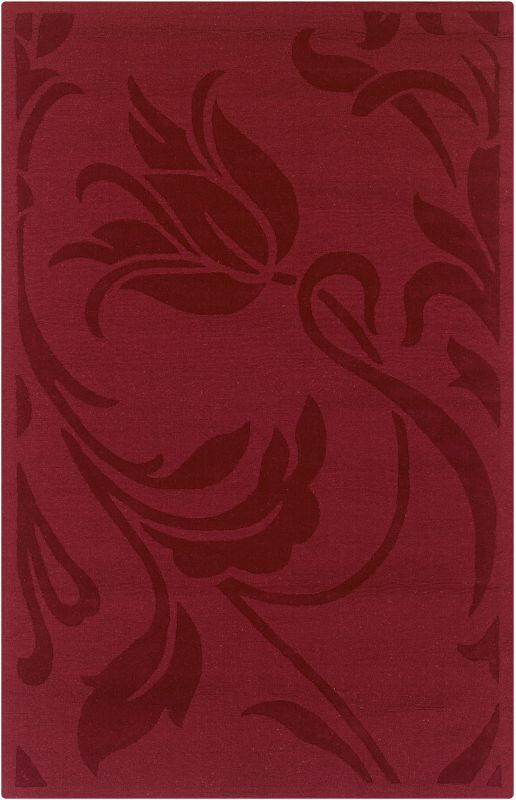 Rizzy Home PL0469 Platoon Hand Loomed New Zealand Wool Rug Red 5 x 8